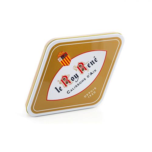 Calissons d'Aix du Roy René en boîte losange en métal
