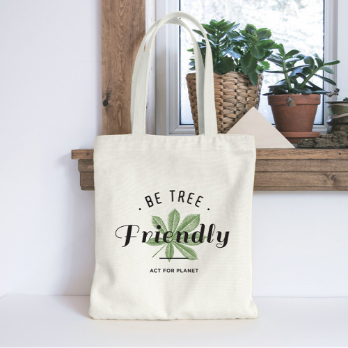 "TOTE BAG ""Be Tree Friendly"" - Act for planet"