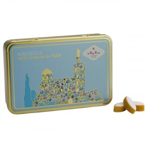 Boîte de petits calissons amandes du Roy René - Collection Marseille