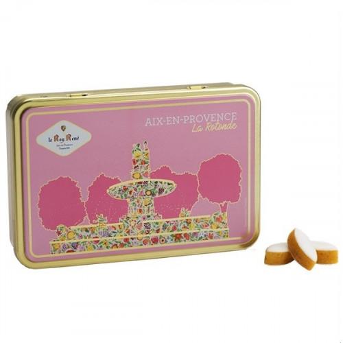 Boîte de petits calissons amandes du Roy René, collection Aix-en-Provence