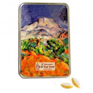 Boîte de petits calissons amande du Roy René, collection Cézanne