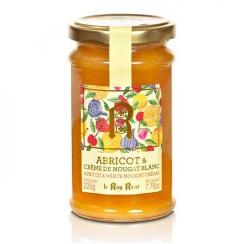 Confiture abricot et crème de nougat blanc du Roy René