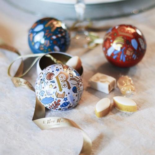 Coffret 3 boules de Noël Le Roy René