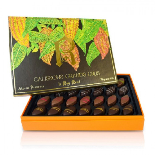 Calissons d'exception enrobés de chocolat grands crus