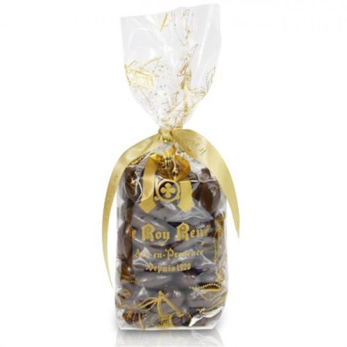 Amandes pointe de sel chocolat noir du Roy René