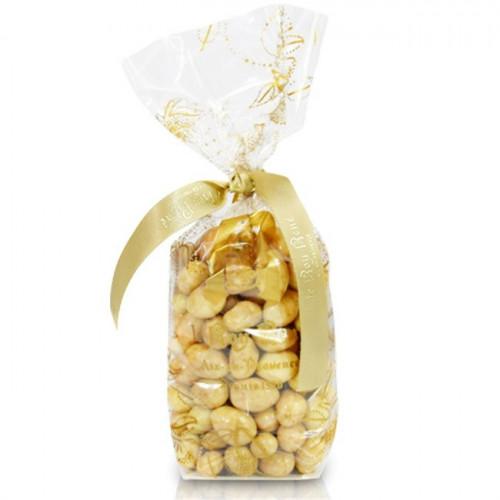 Pistaches enrobées de chocolat blanc du Roy René